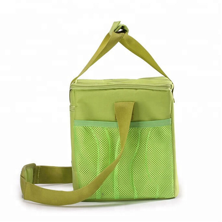Green Polyester Tote Insulated Lunch Bag Yc Bag Making